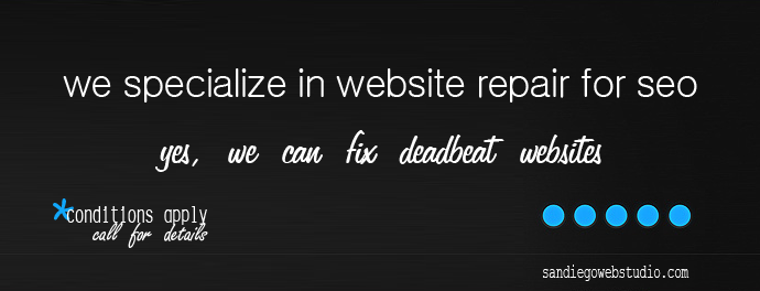 san diego website repair for seo performance